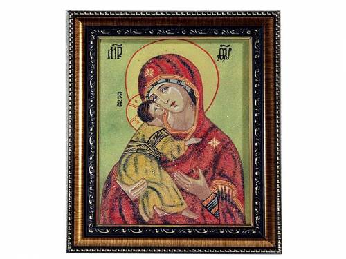 Вышивка икон. Владимирская икона Божией Матери вышитая 27